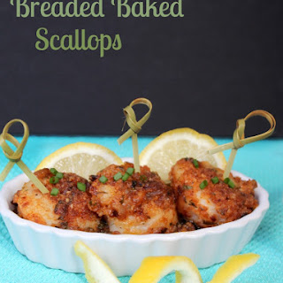 National Baked Scallops Day | Breaded Baked Scallops Recipe