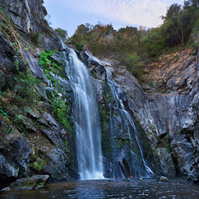 Fervenza do Toxa by Jose María Gómez Brocos - Landscapes Waterscapes ( water, sky, waterfal, rocks, river )