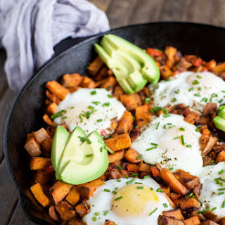 Smoky Bacon Sweet Potato Hash & Eggs Recipe