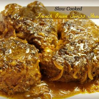 Slow Cooker French Onion Swiss Steak.