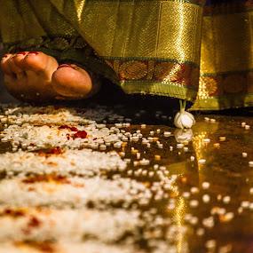 by Aditi Dinakar - Wedding Ceremony ( canon, wedding, saptapadi, bride, aditi )