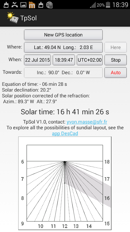 TpSol - your solar time- screenshot