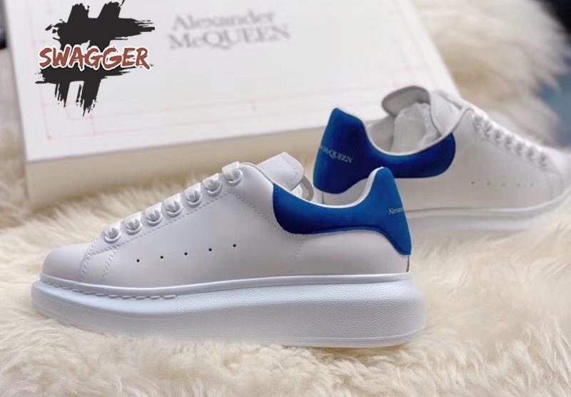 Giày alexander mcqueen 2020 gót xanh like Auth thích hợp với cô nàng dịu dàng