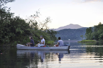 Photo: Friends canoeing on Waterbury Reservoir at Little River State Park