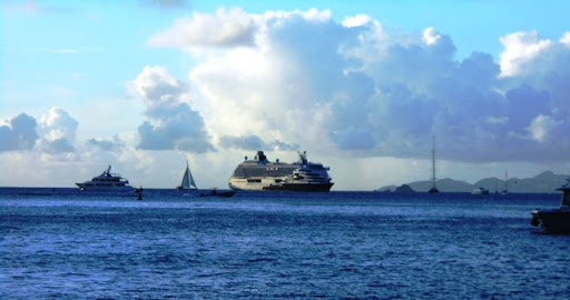 Crystal Serenity anchored off St. Barths