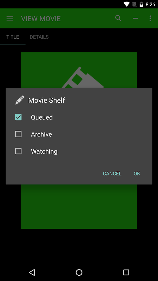 Moviequeue- screenshot