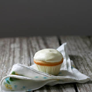 Orange Cupcakes with Sweetened Condensed Frosting.