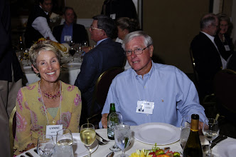 Photo: Lynne Hege Caulkins, '59, and John Jacobi