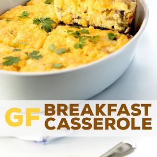 Gluten Free Breakfast Casserole.