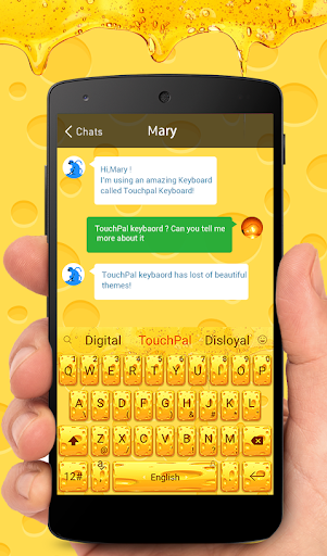 Gold Cheese Keyboard Theme
