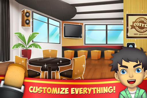 Code Triche My Coffee Shop - Cafétéria mod apk screenshots 2