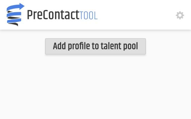 Precontact Tool Talent Pools