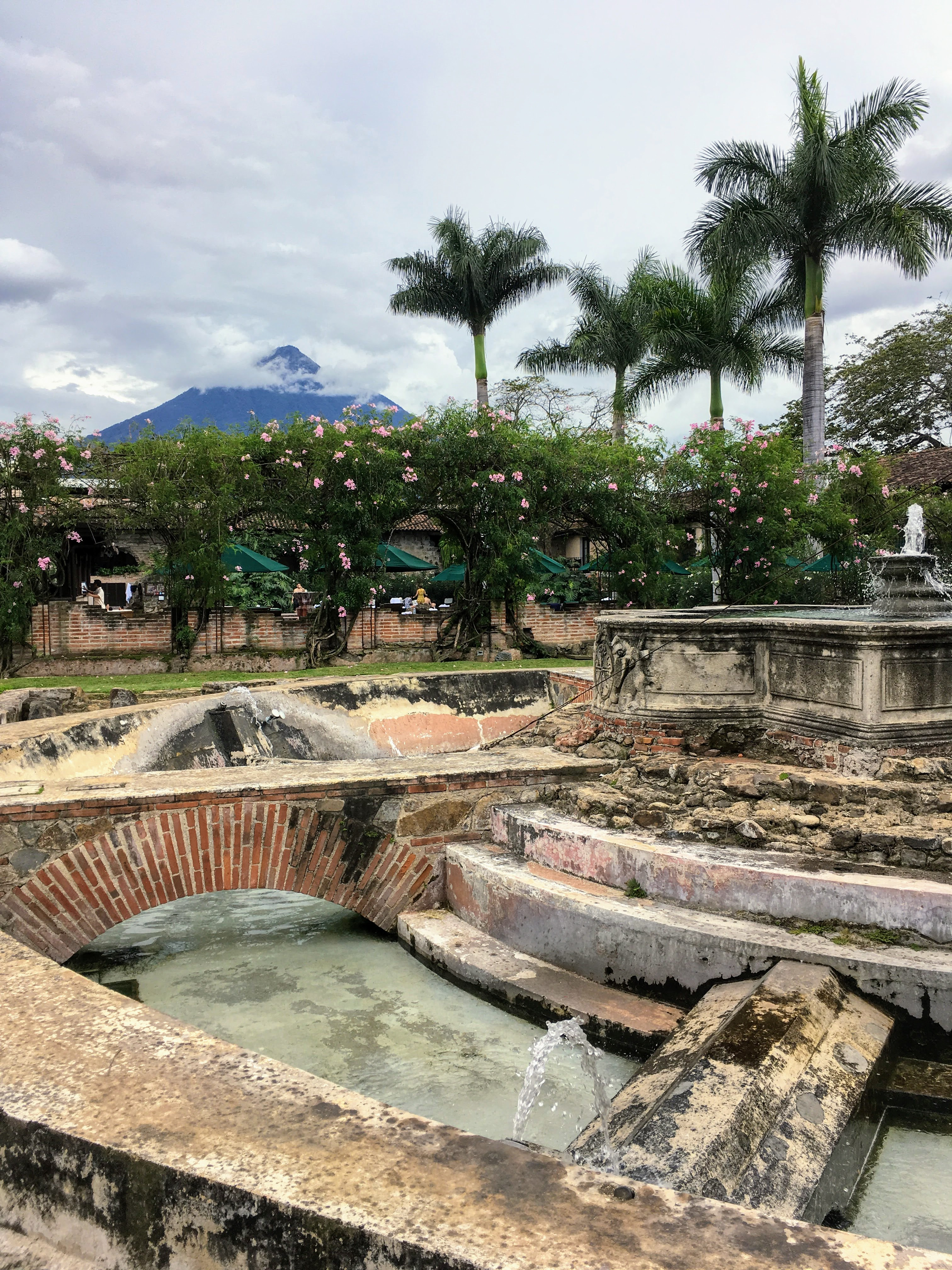 One of the highlights of Antigua is the the ruin of Casa Santo Domingo, a part of what's left of the monastery has been converted into a fancy hotel, but anybody is free to enter and tour the ground. It's quite fascinating.