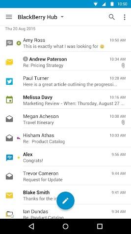BlackBerry Hub Screenshot