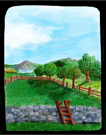 Phone drawing - Window to the Great Outdoors