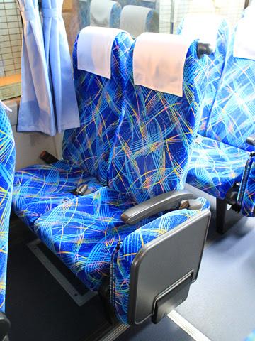 網走観光交通「まりも急行札幌号」 ・369 シート
