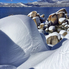 by Dan Larsen - Landscapes Waterscapes ( snow boulders,  )