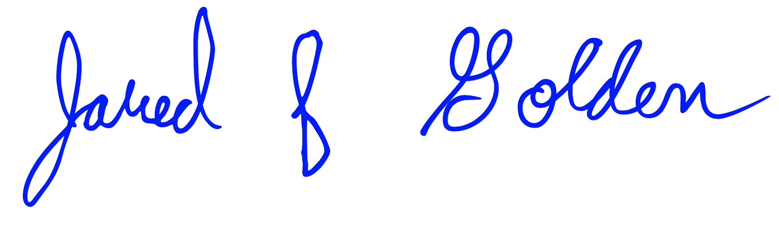 Congressman Golden's signature.