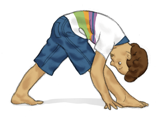 Triangle Forward Bend for Kids - Kids Yoga Stories
