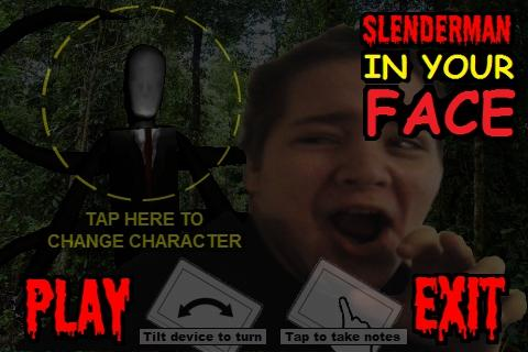 IN YOUR FACE SLENDERMAN- screenshot