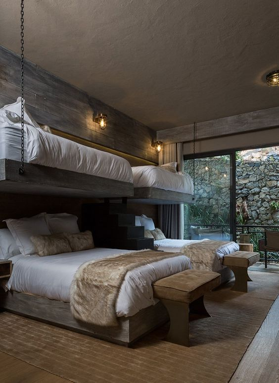 Rustic Bedroom Ideas with Bunk Beds