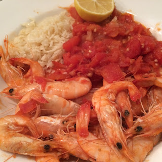 Sauteed Shrimp with Tomatoes and Garlic