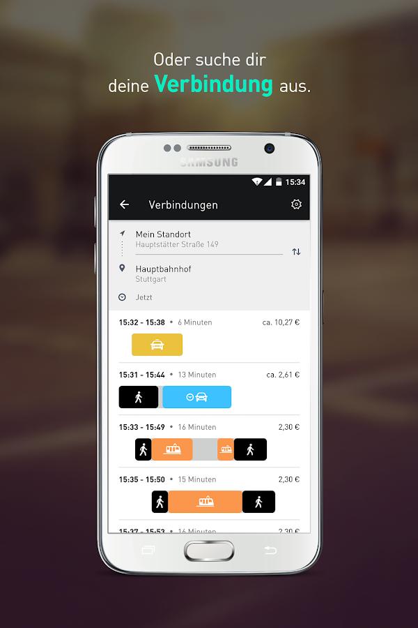 moovel carsharing, bus & train- screenshot