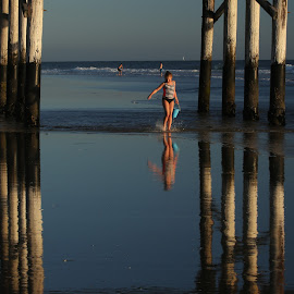 Pier at low tide by Jeannine Jones - Uncategorized All Uncategorized (  )