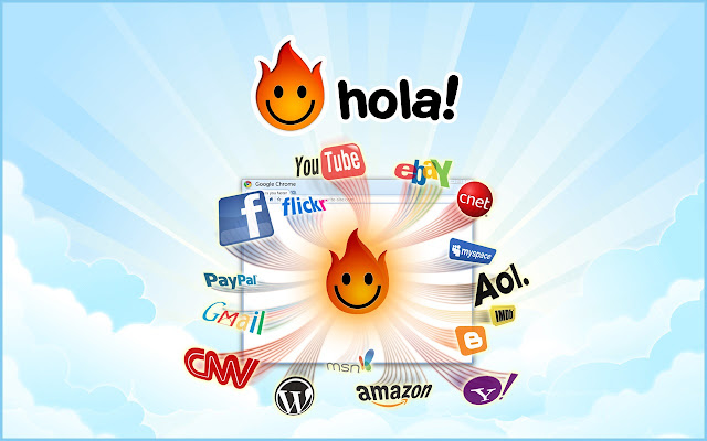 Unlimited Free VPN - Hola chrome extension