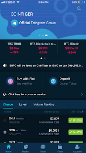 App CoinTiger-multi-cryptocurrency exchange APK for Windows Phone