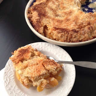 Winter Peach Cobbler.