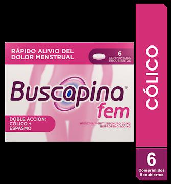BUSCAPINA FEM COM. CAJA   X6COM. BOEHRINGER HIOSCINA N-BUTILBROMURO