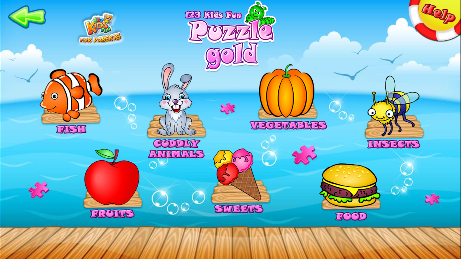123 Kids Fun PUZZLE GOLD- screenshot