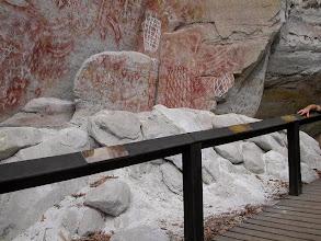 Photo: Rock art at Carnarvon Gorge, in southern Queensland.