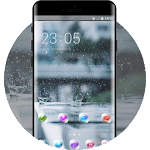 Raindrop theme natural landscape transparent Icon