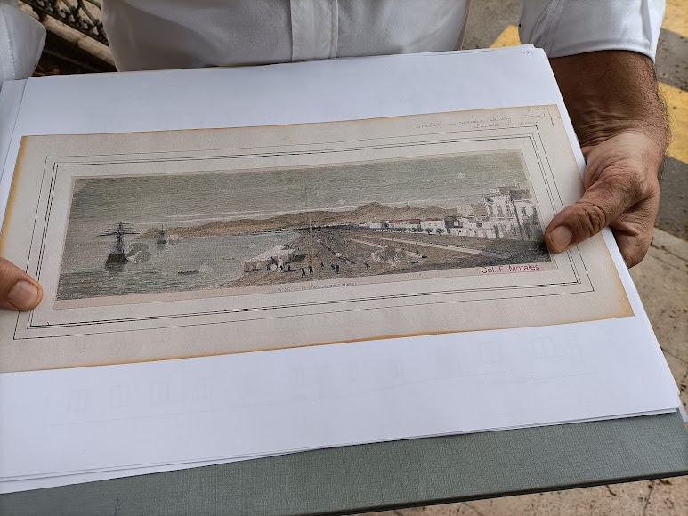 Grabado de Nicholas Chapuy en el que se ve el \'rosado\' del Provincial
