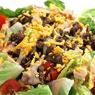 Skinny Cheeseburger Salad