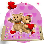 Cute Couple Teddy 3D