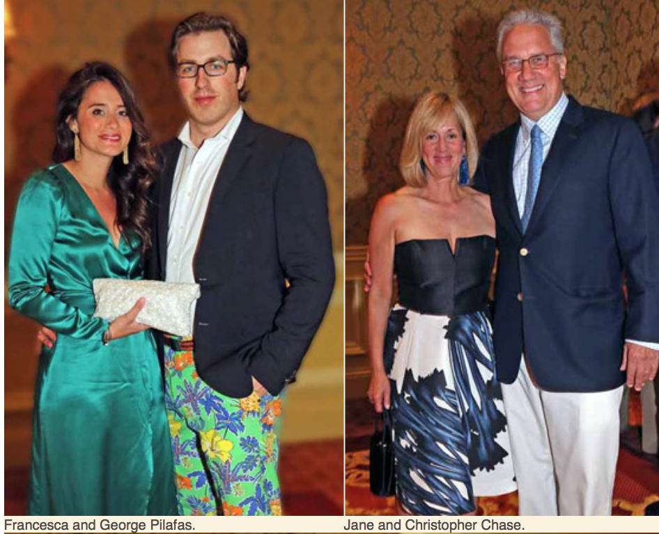 Karen Klopp, Hilary Dick article for New York Social Diary, What to Wear Everglades foundation party at thme breakers Francesca & george Pilafas, Jane & christopher Chase