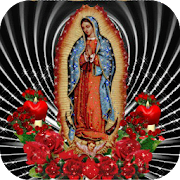 Virgin Of Guadalupe Red Roses Live Wallpaper