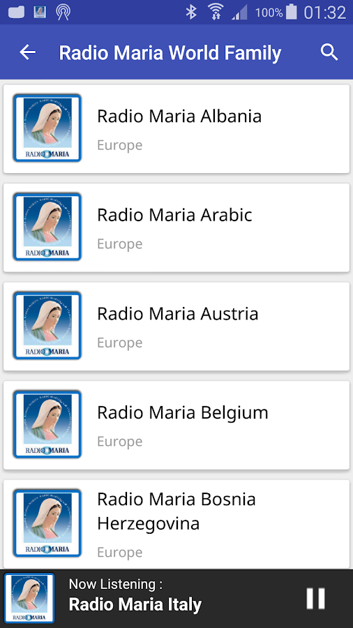 Radio Maria World Family: captura de pantalla
