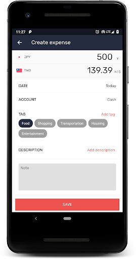Currency: u2708ufe0fExchange rates, Travel accounting&tags  screenshots 3