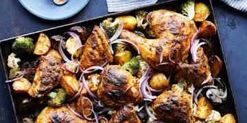 Tandoori Chicken and Vegetable Sheet-Pan Supper