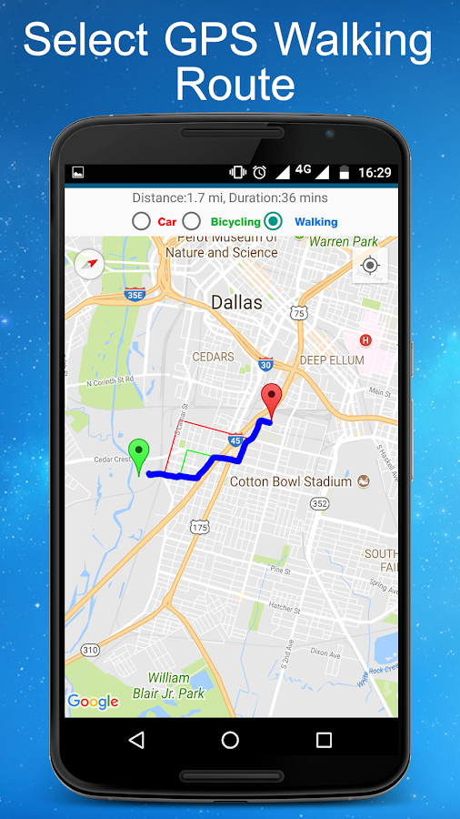 GPS Route finder & Navigation- screenshot