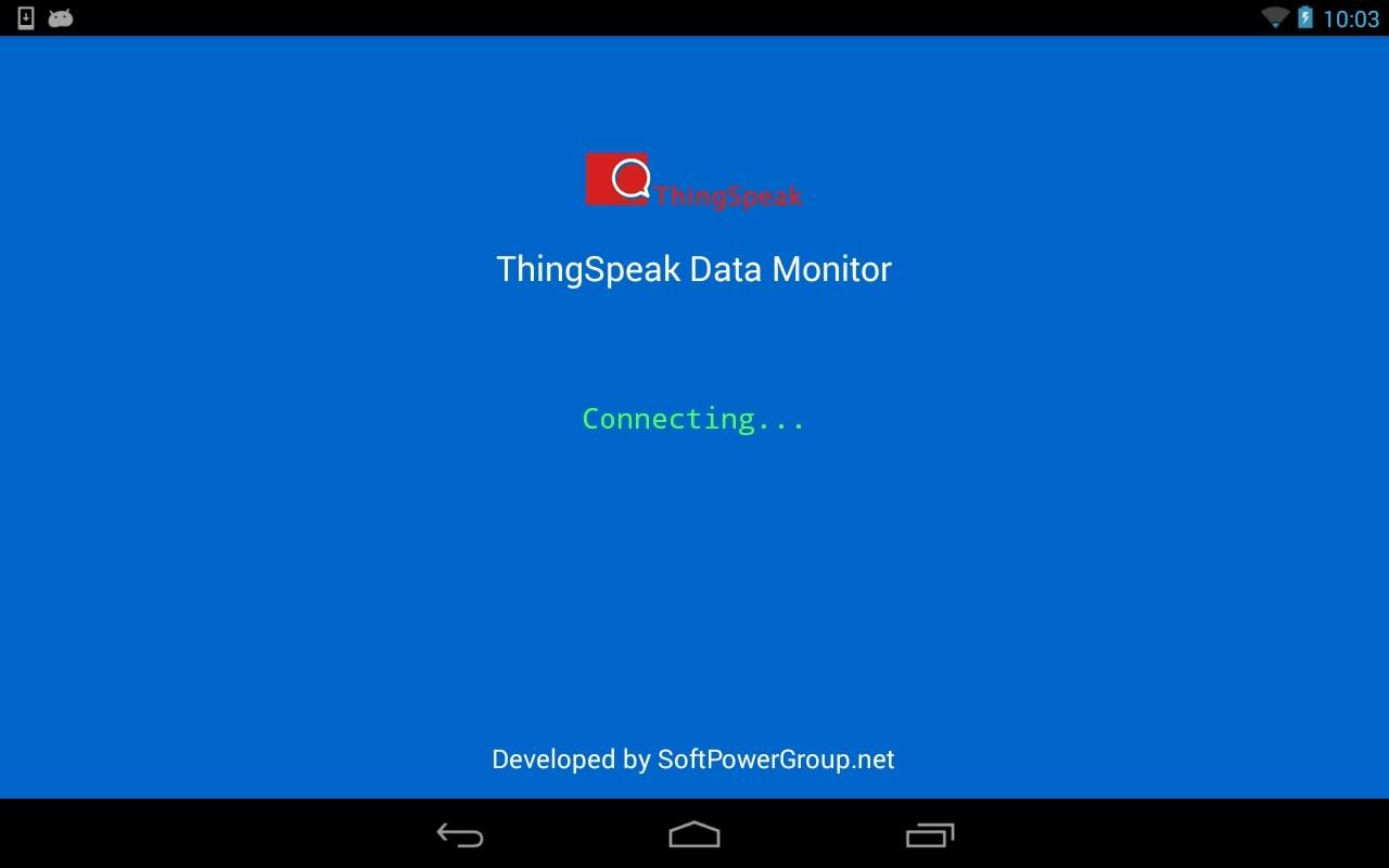 IoT ThingSpeak Data Monitor- screenshot