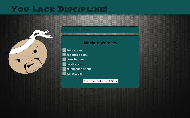 You Lack Discipline!
