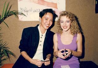 Photo: When Kylie met Sally, backstage Canton Disco 1987