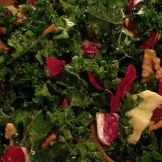 Warming Kale Salad With A Caribbean Twist