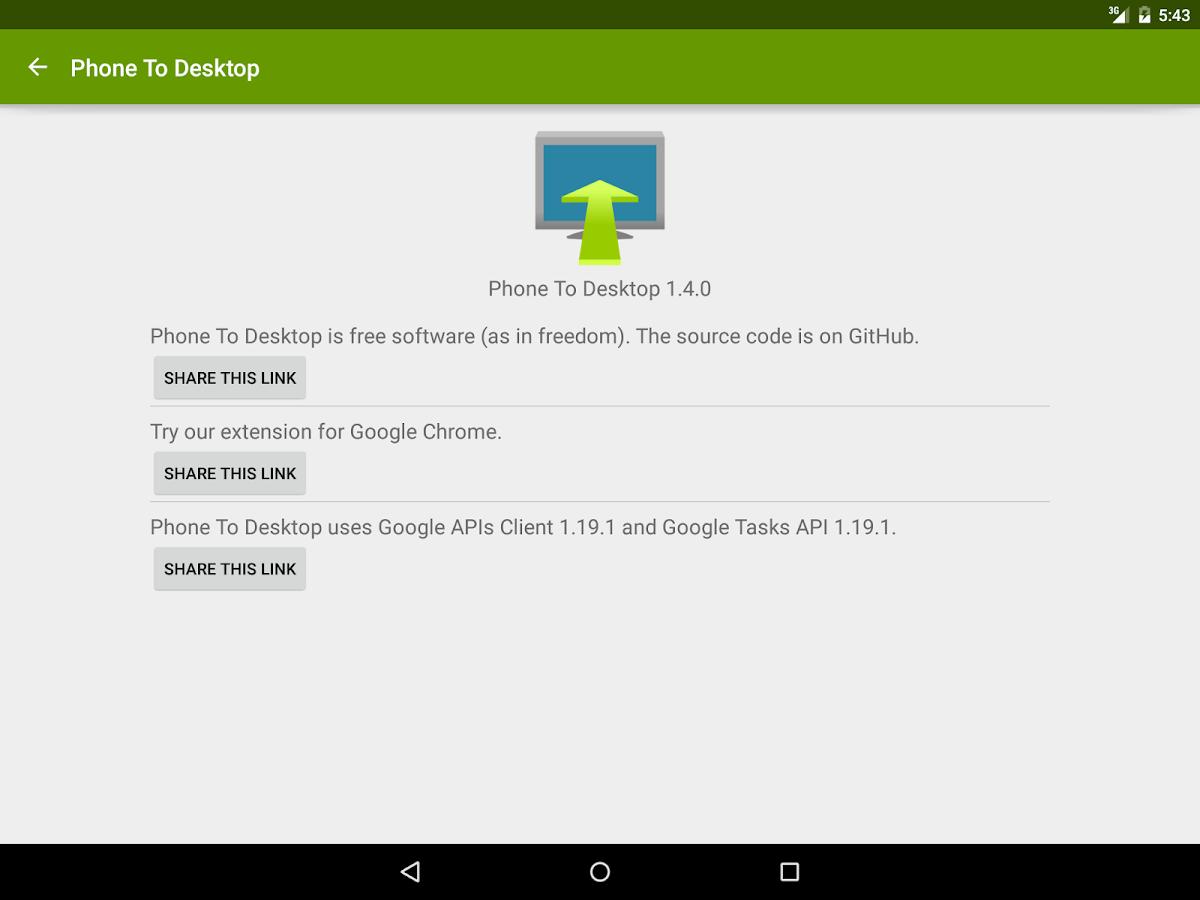 Phone To Desktop- screenshot