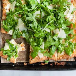 Burrata, Prosciutto and Arugula Pizza.